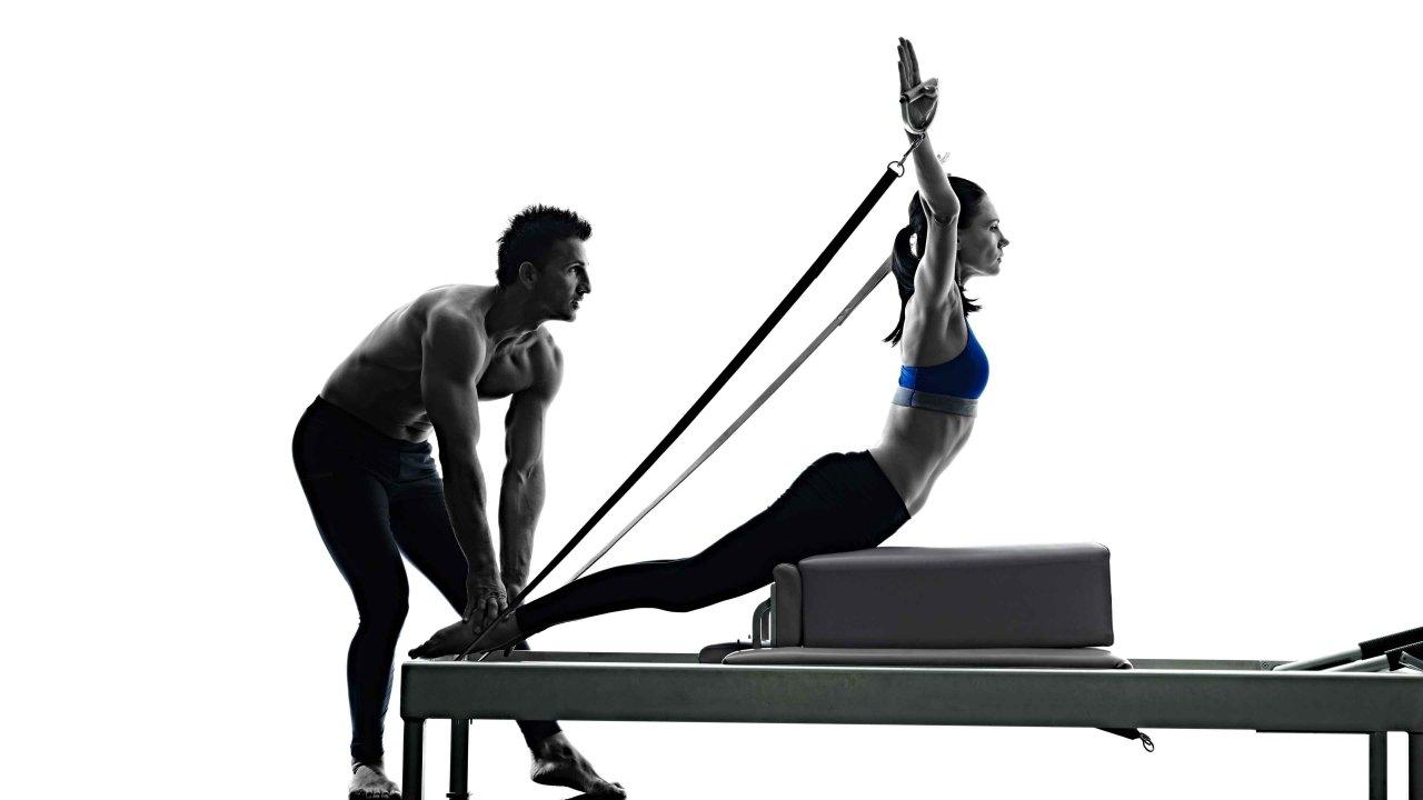 Pilates Models Reformer Breast Stroke